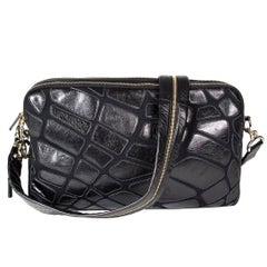 Chanel Black Leather Messenger Bag