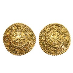 Chanel Vintage '90s Medallion Clip-On Earrings