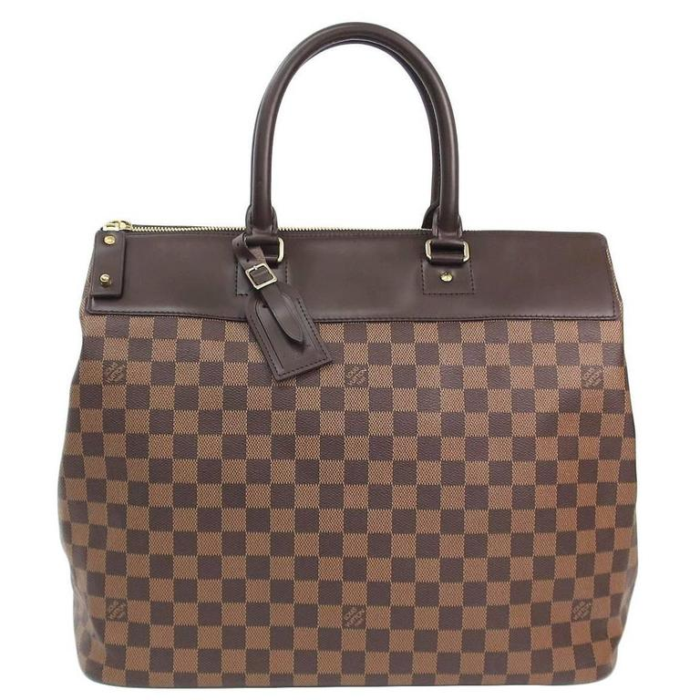 Louis Vuitton Brown Men s Women s Large Carryall Travel Top Handle Tote Bag  For Sale 301af266c