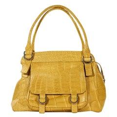 Yellow Suarez Alligator Shoulder Bag