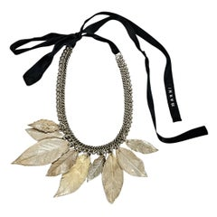 Gold Marni Leaf Collar Necklace