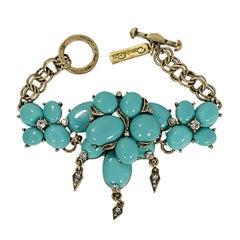 Teal Oscar de la Renta Chain Bracelet