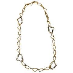 Goldtone Balenciaga Link Necklace