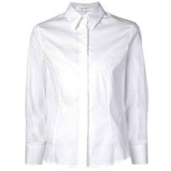 Carolina Herrera White Button Up Blouse Sz 4