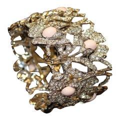 Carlo Zini Faux Peau d' Ange Corals Bracelet