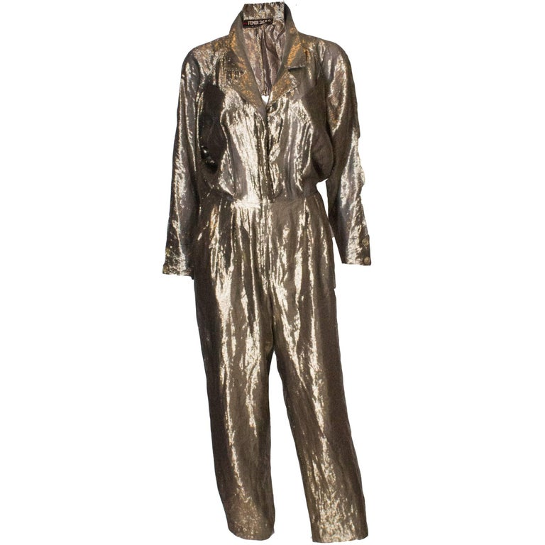 Vintage Gold Fendi Jumpsuit 1