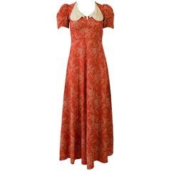 Irene Kasmer Londoner Ankle Length Dress with Large Collar