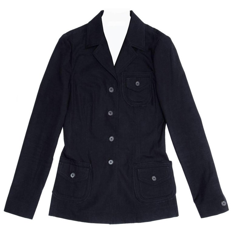 Prada Navy Cotton Casual Jacket