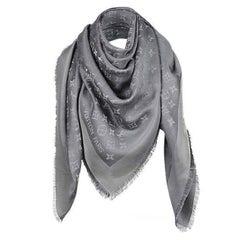 Monogram Shine M75120 Charcoal Grey Scarf