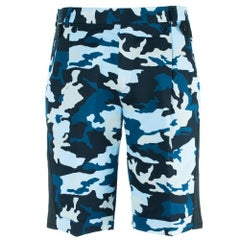 Givenchy Men's Blue Cotton Camouflage Board Shorts