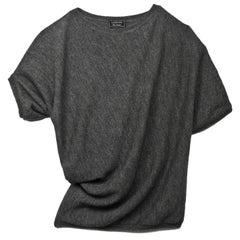 Lanvin Grey Wool Asymmetrical Sweater