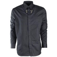Givenchy Men's 100% Cotton Black 17 Button Down