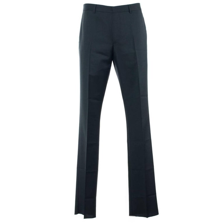 Givenchy Men's Classic Wool Blend Black Trousers