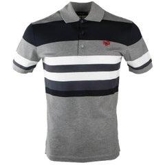 Givenchy Men's Black & White Striped 100% Cotton Polo