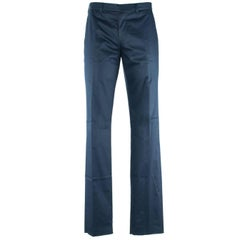 Givenchy Men's 100% Cotton Solid Navy Trousers