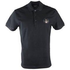 Givenchy Men's Black 100% Cotton Dog Patch Polo Shirt