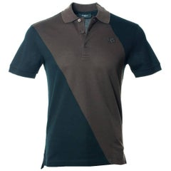 Givenchy Men's Black Brown 100% Cotton Short Sleeve Polo Shirt
