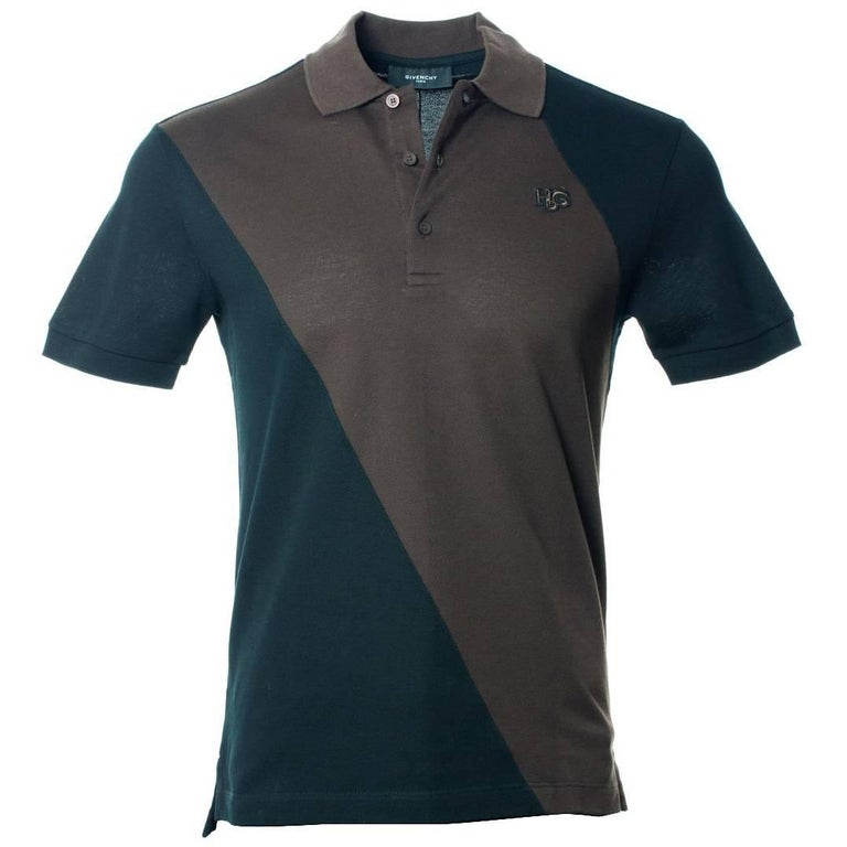 givenchy men 39 s black brown 100 cotton short sleeve polo