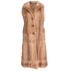 Sleaveless Long Mink Waistcoat