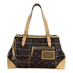 Brown Louis Vuitton Sac Riveting Monogram Shoulder Bag