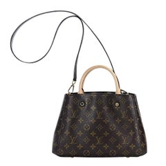 Brown Louis Vuitton Monogram Montaigne BB Satchel