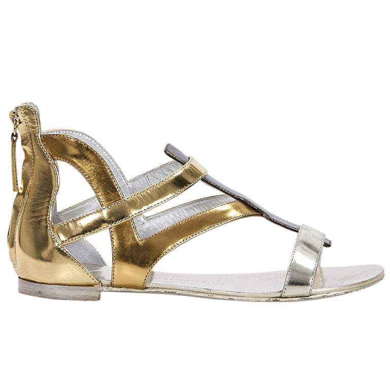 Multicolor Giuseppe Zanotti Metallic Gladiator Sandals For Sale