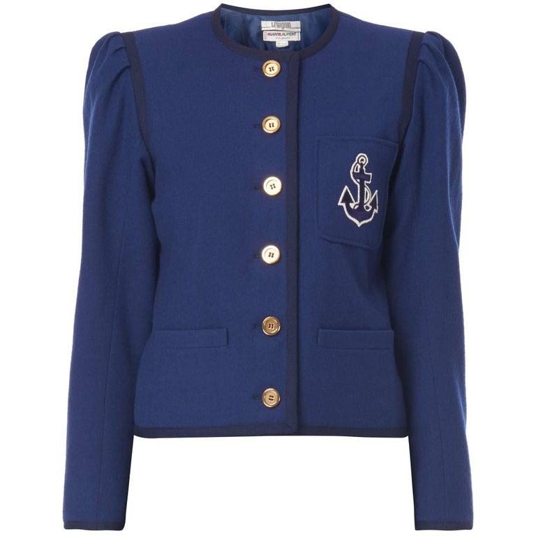 Yves Saint Laurent Navy jacket, circa 1975
