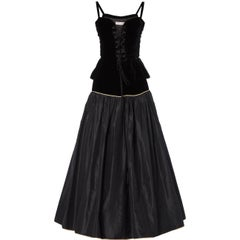 Black top & skirt, Autumn/Winter 1976