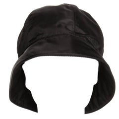 Prada Black Nylon Bucket Cap