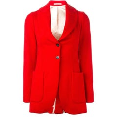 Red wool patch pocket jacket VIVIENNE WESTWOOD Gold Label