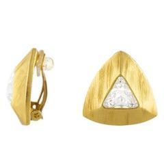 Yves Saint Laurent Pyramid Earrings