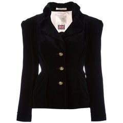 Black cotton Gold Label velvet jacket from VIVIENNE WESTWOOD