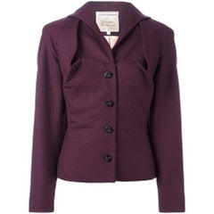 Aubergine wool 'Gold Label' jacket from VIVIENNE WESTWOOD