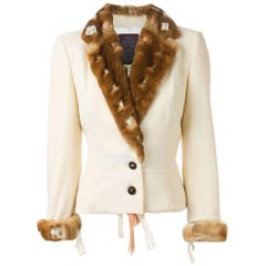 1990s JOHN GALLIANO Orylag fur trim jacket
