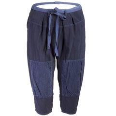 TAO Comme des Garçons Indigo Cotton Cropped Patch Pants