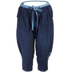 TAO for Comme des Garçons Indigo Washed Cotton Shorts