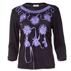 TAO Comme Des Garçons Ribboned Flower Applique T-Shirt