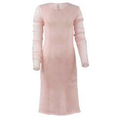 TAO by COMME DES GARÇONS Ballet Pink Mohair Knit Sweater Dress