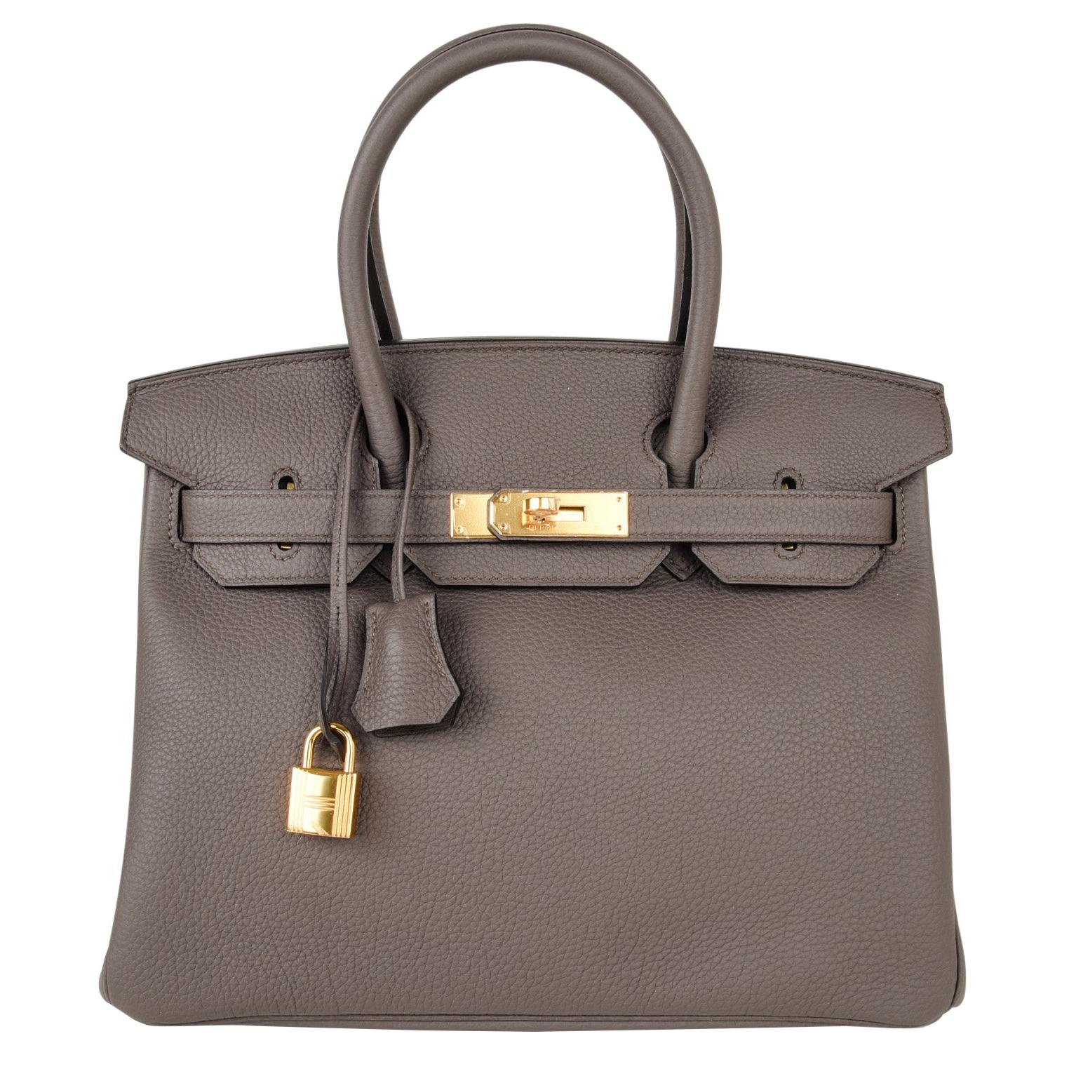 bf3e0f73ade ... where can i buy hermes birkin 30 bag etain gray gold hardware togo  leather for sale