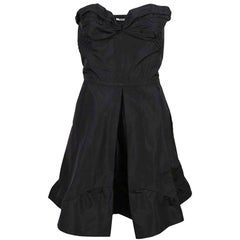 Miu Miu Black Strapless Dress Sz IT40