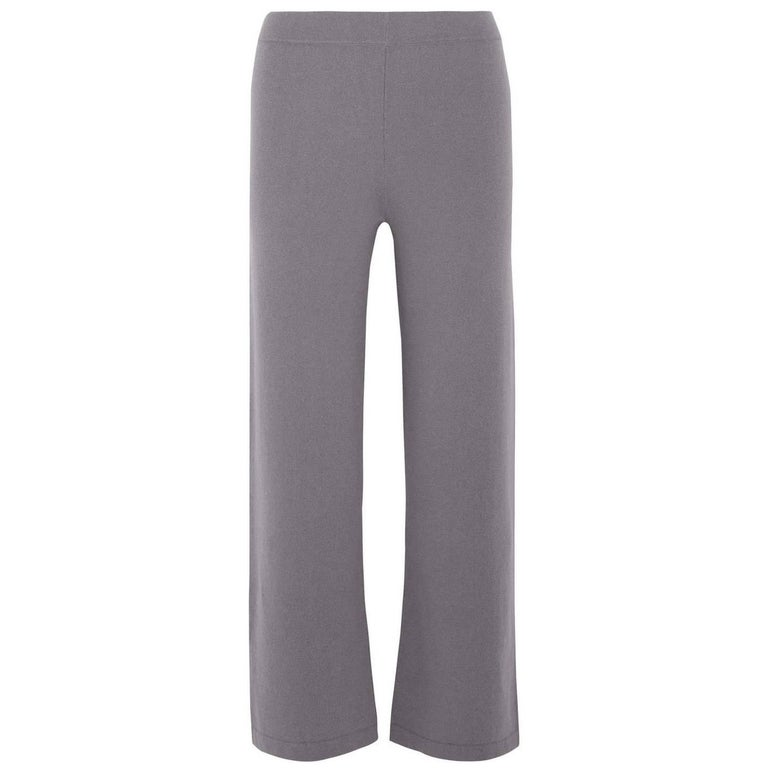 Allude Taupe Cashmere Wide Leg Pants Sz M rt. $479 For Sale