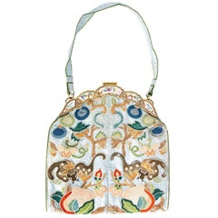 Ca.1910 Chinoiserie embroidered silk bag