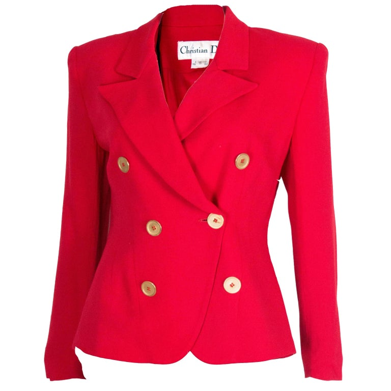 Christian Dior Red Jacket 1