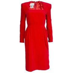 Bruce Oldfield Vintage Red Velvet Dress