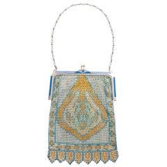 1930's Art Deco Silver Mesh Bag