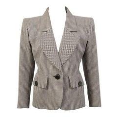 Yves Saint Laurent Haute Couture Black & White Check Jacket
