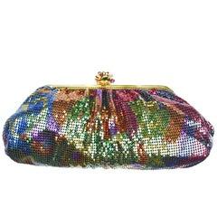 Vintage Whiting and Davis Rainbow Disco Bag