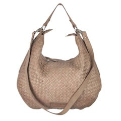 LIEBESKIND BERLIN Taupe WOVEN Leather MANDY Hobo BAG