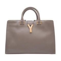 Yves Saint Laurent Grey Cabas Bag
