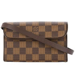 Louis Vuitton Brown Damier Men's Women's Fanny Pack Waist Bag